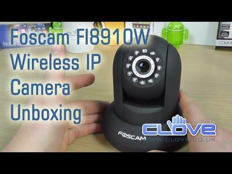 Foscam FI8910W Wireless IP Camera Unboxing
