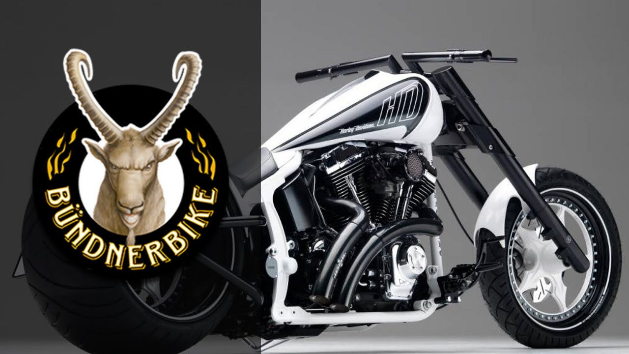 "White Harley Davidson: Harley Davidson ""Black & White"" By Bündnerbike"