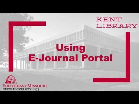 Using E-Journal Portal