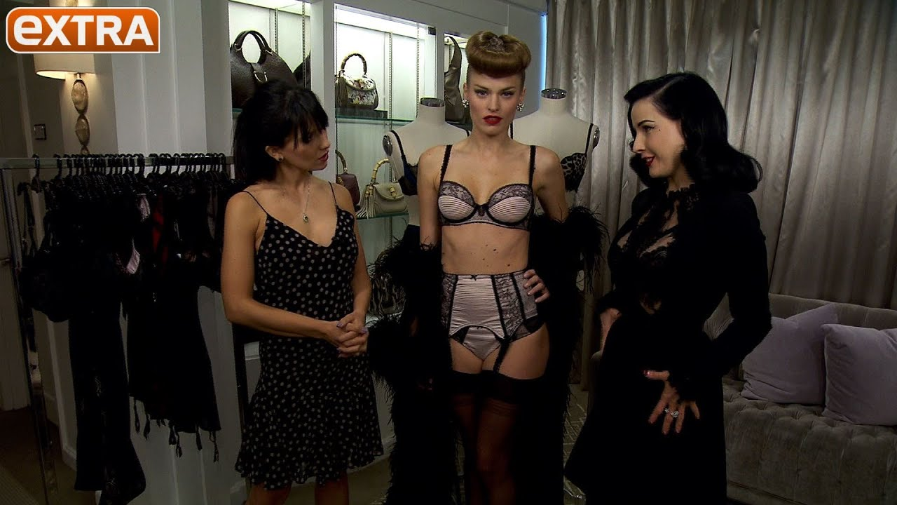 a3de35a3dba8 Dita Von Teese Shows Off Her Sexy New Lingerie Line - YouTube