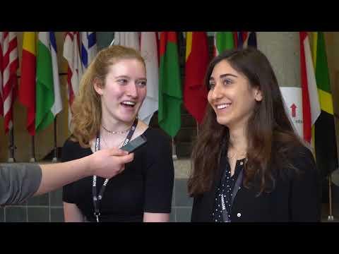Interviewing delegates at HMUN 2018