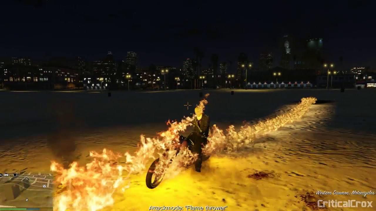 Gta V Ghost Rider Mod  Criticalcrox 04:01 HD
