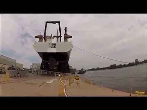 Ship Launching Teaches  News cameraman a LESSON!!