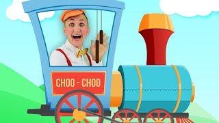 Choo Choo Train Song for Kids | Super Simple Nursery Rhymes. Sing Along With Tiki.