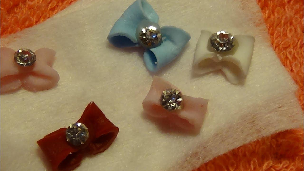 making handmade 3D acrylic bows (acrylic nails) - YouTube