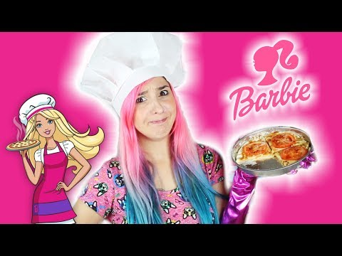 BARBIE: MAQUINA DE HACER PIZZA Y PAN ✩ ¿FUNCIONA? - Ann Look