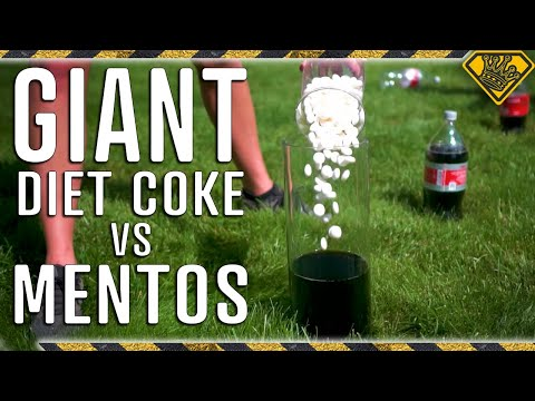 SUPER SIZED Coke vs. Mentos Experiment