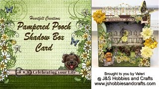 Pampered Pooch Shadow Box Card Tutorial by Valeri at J & S Hobbies and Crafts
