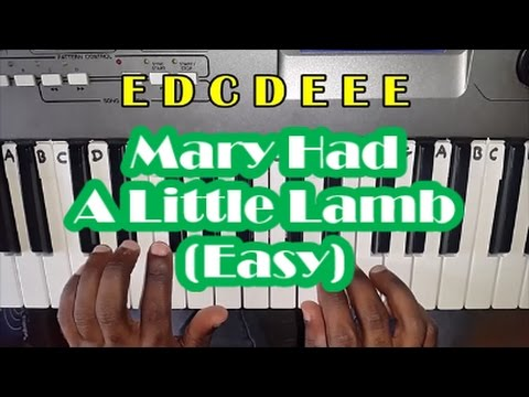 Mary Had A Little Lamb Slow Easy Piano Tutorial - Notes - How To Play
