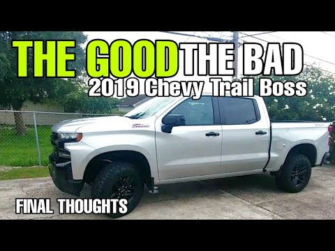 2019 Chevy 1500 LT Trail Boss. Final Thoughts!