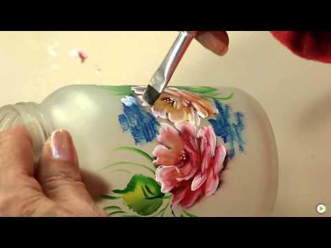 Canal Do Artesanato - Reciclagem De Pote De Vidro Com Rosas