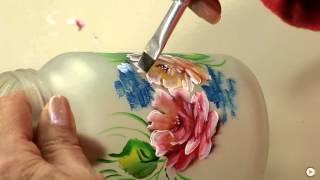 Reciclagem de Pote de Vidro com Rosas