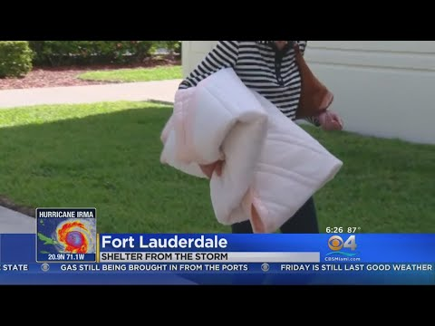 Fort Lauderdale Residents Packing Into Hurricane Shelter
