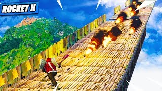 Le Chemin Explosif , Allez vous Survivre ! Lance Roquette ! Fortnite Terrain de Jeu