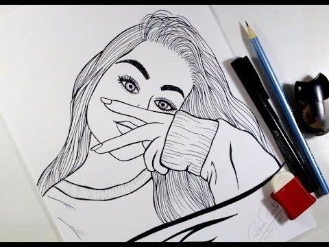 Como Desenhar Garota Tumblr Estilosa Passo A Passo 462