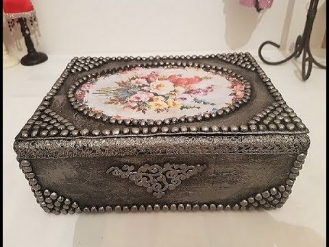 Best of the box for jewelry using a cardboard box   Recycled craft   Casket for DIY
