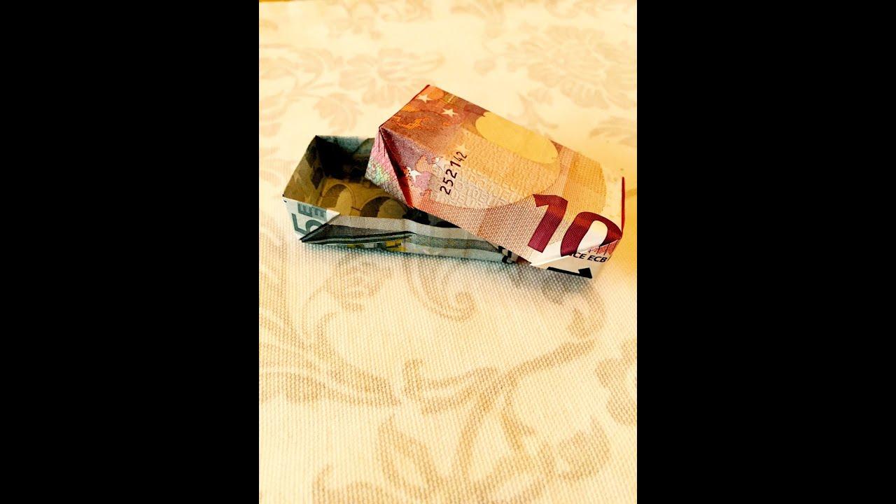 kiste aus geld falten p ckchen aus scheinen falten origami geschenke youtube. Black Bedroom Furniture Sets. Home Design Ideas