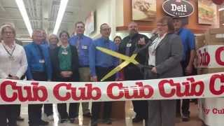 Cub Foods Northfield Re-Grand Opening Giant Scissors Ribbon Cutting