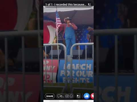 Sacha Baron Cohen trolls redneck rally.