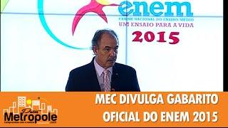 MEC DIVULGA GABARITO OFICIAL DO ENEM 2015 - TV METRÓPOLE