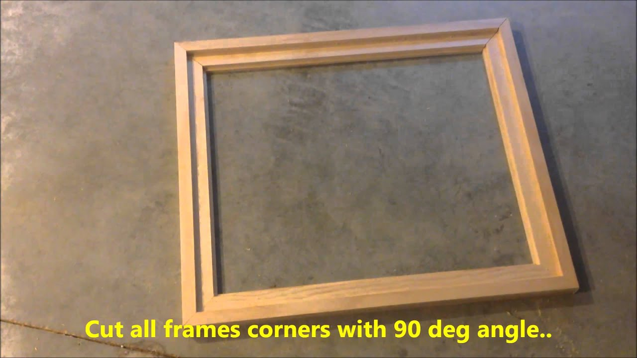 DIY Creating Your Own Floating Frame For Canvas - YouTube