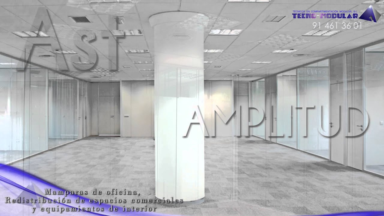 Instalaciones de mamparas de oficina de vidrio youtube for Mamparas de vidrio para oficinas