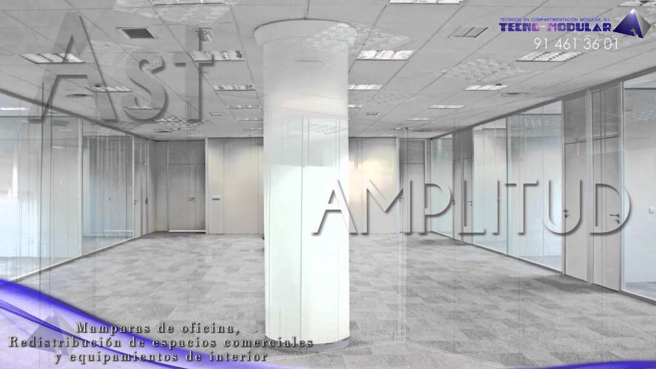 Instalaciones de mamparas de oficina de vidrio youtube for Mamparas de oficina