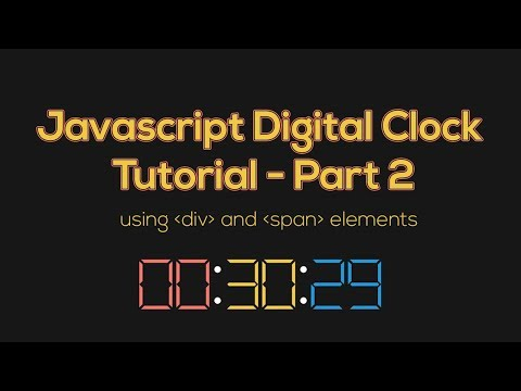 Javascript Clock Digital Tutorial using div and span elements - Part 2 - #frontendfunn thumbnail