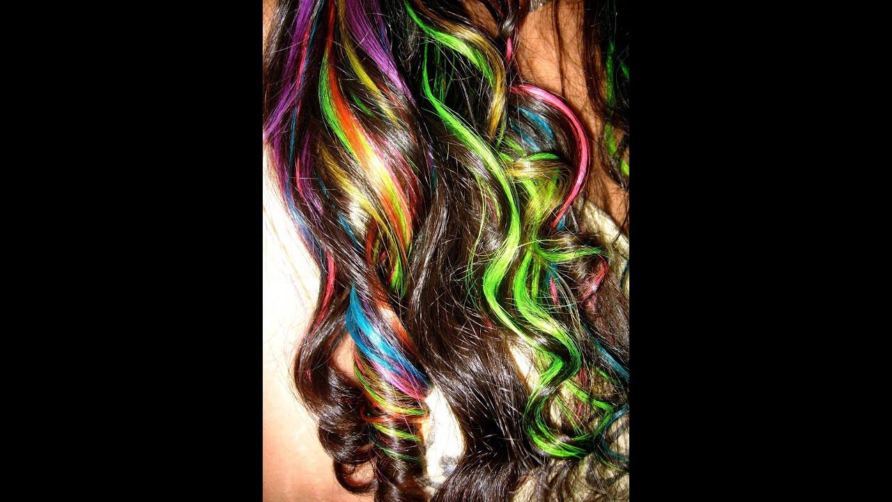 my rainbow hair amp how i style it youtube