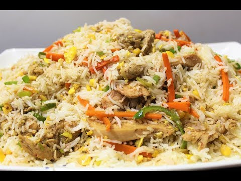 Fried Chicken Rice Recipe By AAmna's Kitchen.