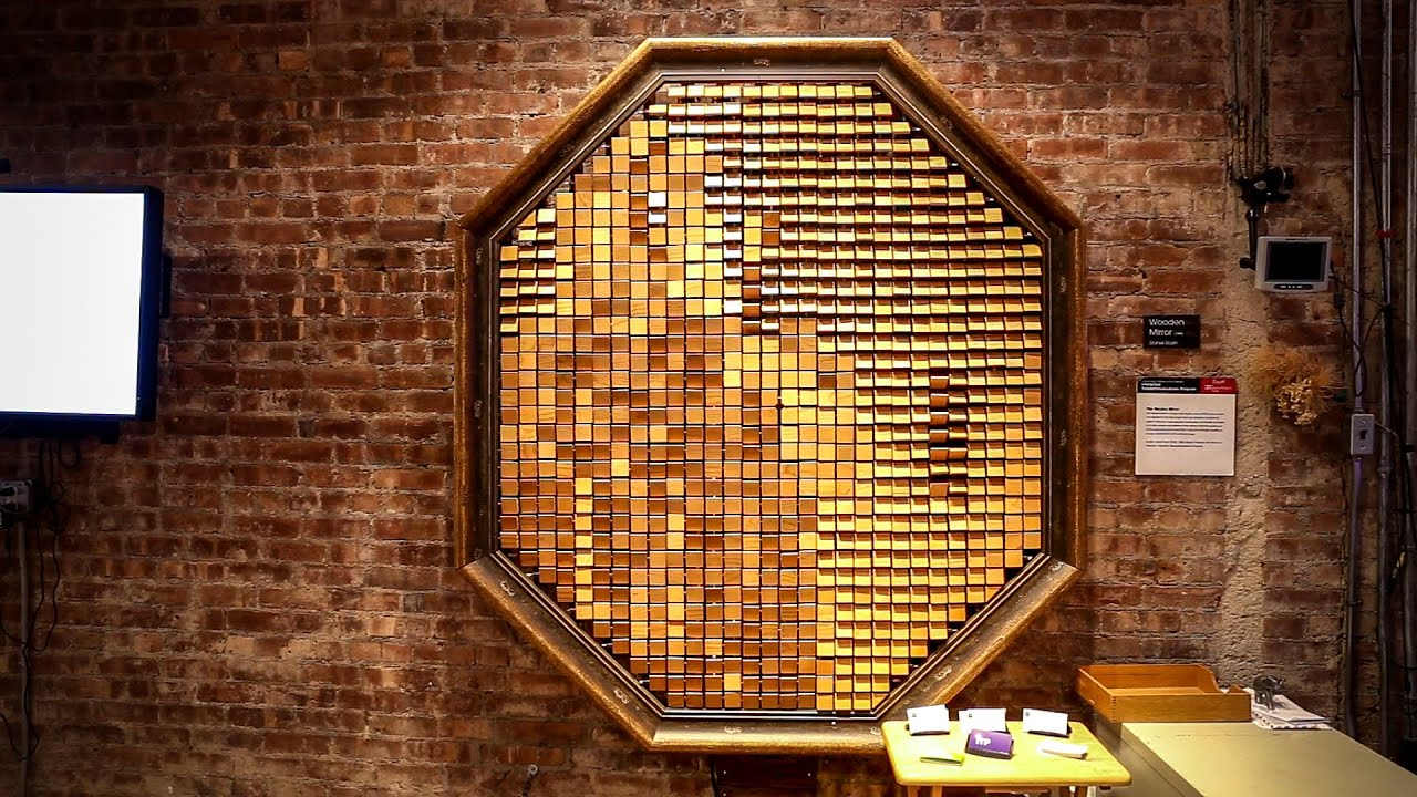 nyu s interactive wooden mirror project youtube