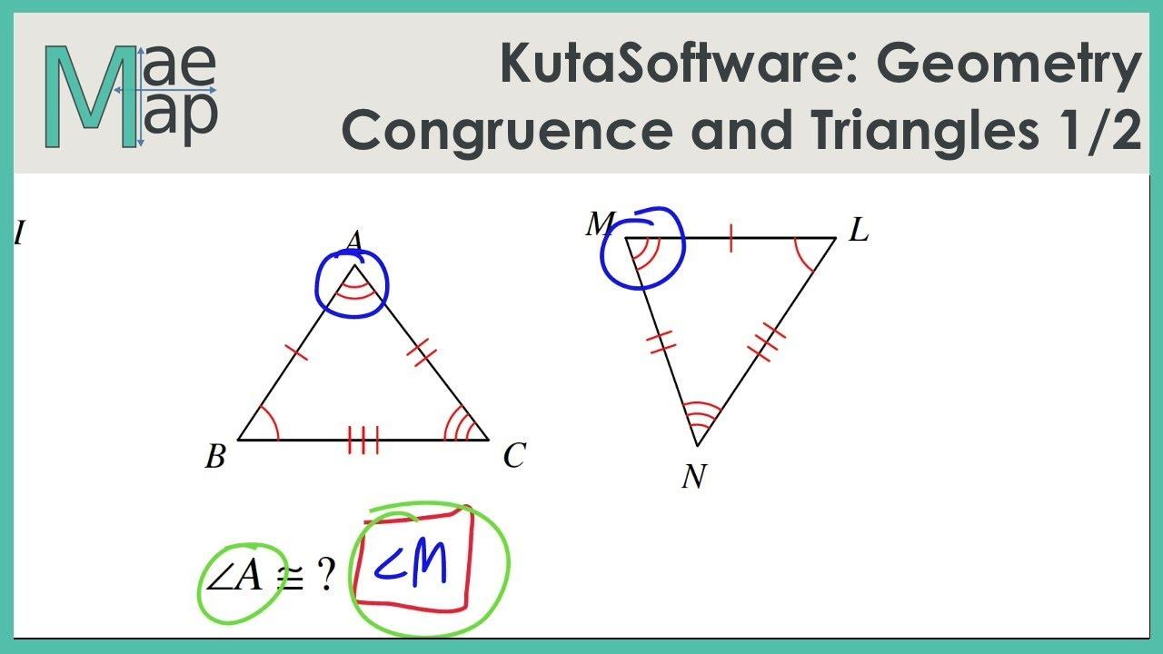 Kutasoftware Geometry Congruence And Triangles Part 1 Youtube