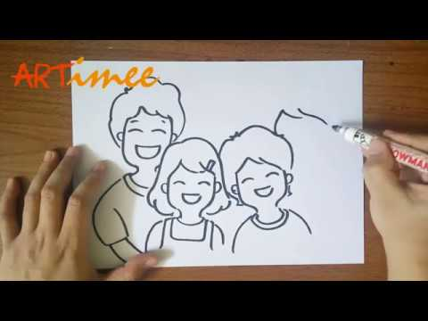 How To Draw A Family Step By Step Youtube