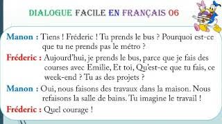 Dialogue facile en français 6