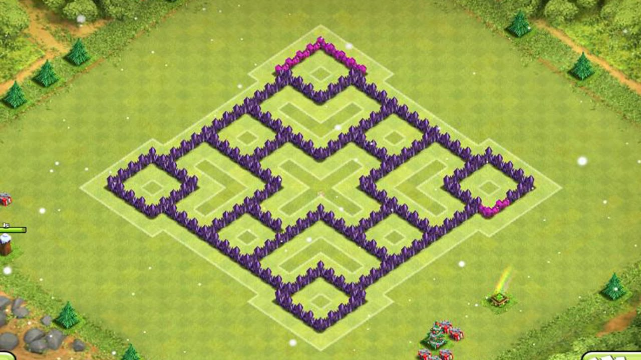 Insane Farming Base New 2015 Town Hall 7 Defence Clash Of Clans Speed Build Youtube