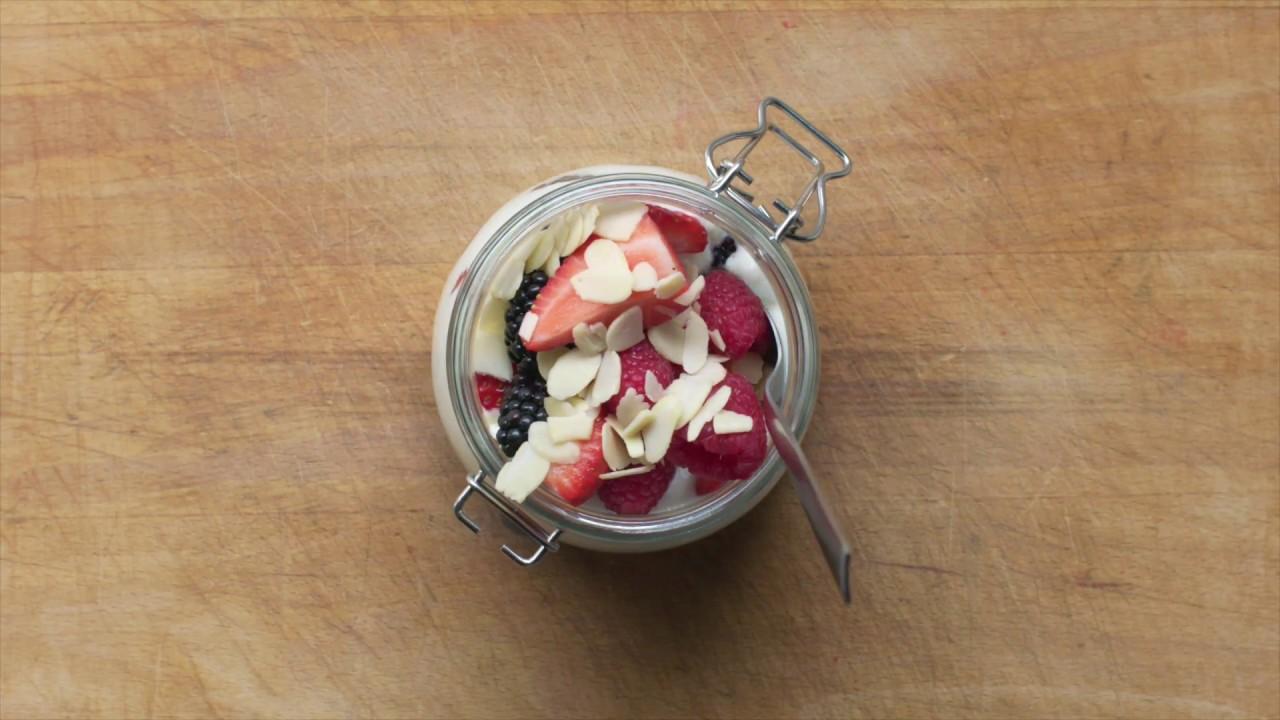 Strawberry Yoghurt Pot Recipe | Swim Fitness Meal Plan | Eat Well, Live Well, Swim Well