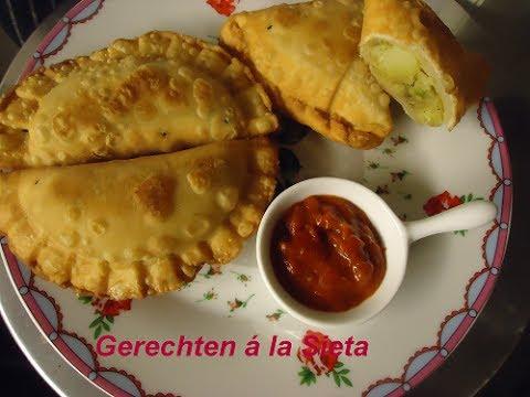 Samosa (vegetarische Indiase Snack)
