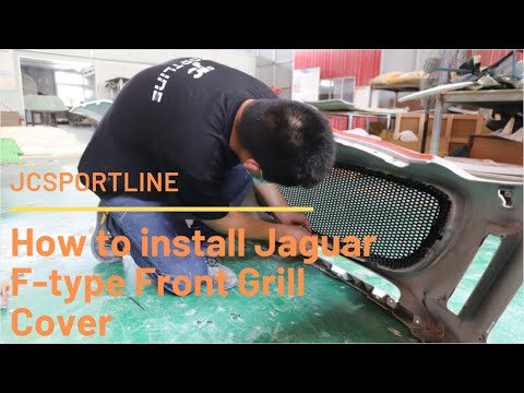 How to install Jaguar F-type Front Grill Cover