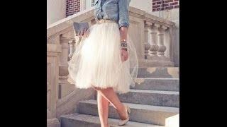 DIY| Tiulio sijonas su prisiuvama guma juosmenyje