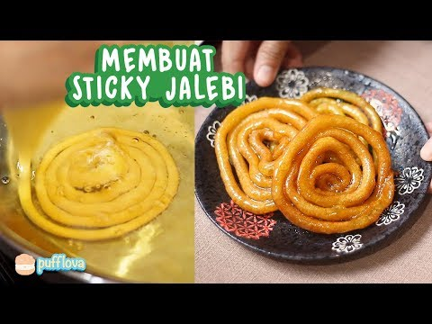 MEMBUAT STICKY JALEBI | SNACK INDIA