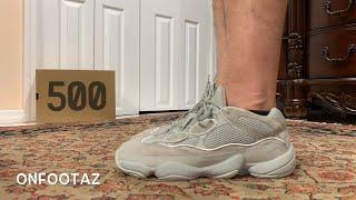 Adidas Yeezy 500 Salt On Foot - YouTube