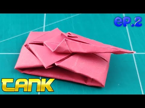 DIY War Tanks Toy | How to Make a Paper Tank Battle Tutorials | Origami Easy Tank (Original) Ep.2