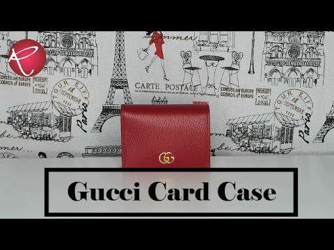 15214d925d4dc3 Gucci GG Marmont Card Case & Gucci Guccissima Cosmetics Case SLGs