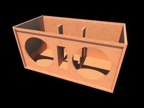 """[Box PLAN]38Hz DUAL 15"""" Sub Box"""