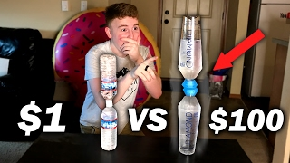 The Most Expensive Water Bottle Flip! This insane expensive water b...