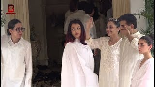 Karishma Kapoor Upset On Aishwarya Rai At Karishma's Grand Mother Krishna Raj Kapoor Funeral