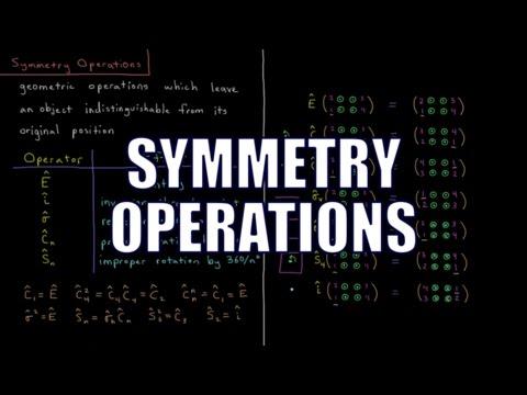Quantum Chemistry 12.2 - Symmetry Operations
