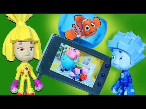 строительный кран видео для детей свинка пеппа