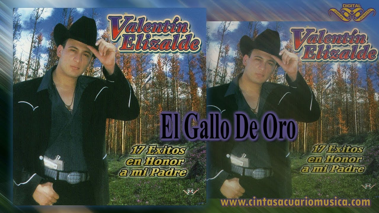El Gallo De Oro Valentin Elizalde 17 Exitos En Honor A Mi Padre Disco Oficial Youtube