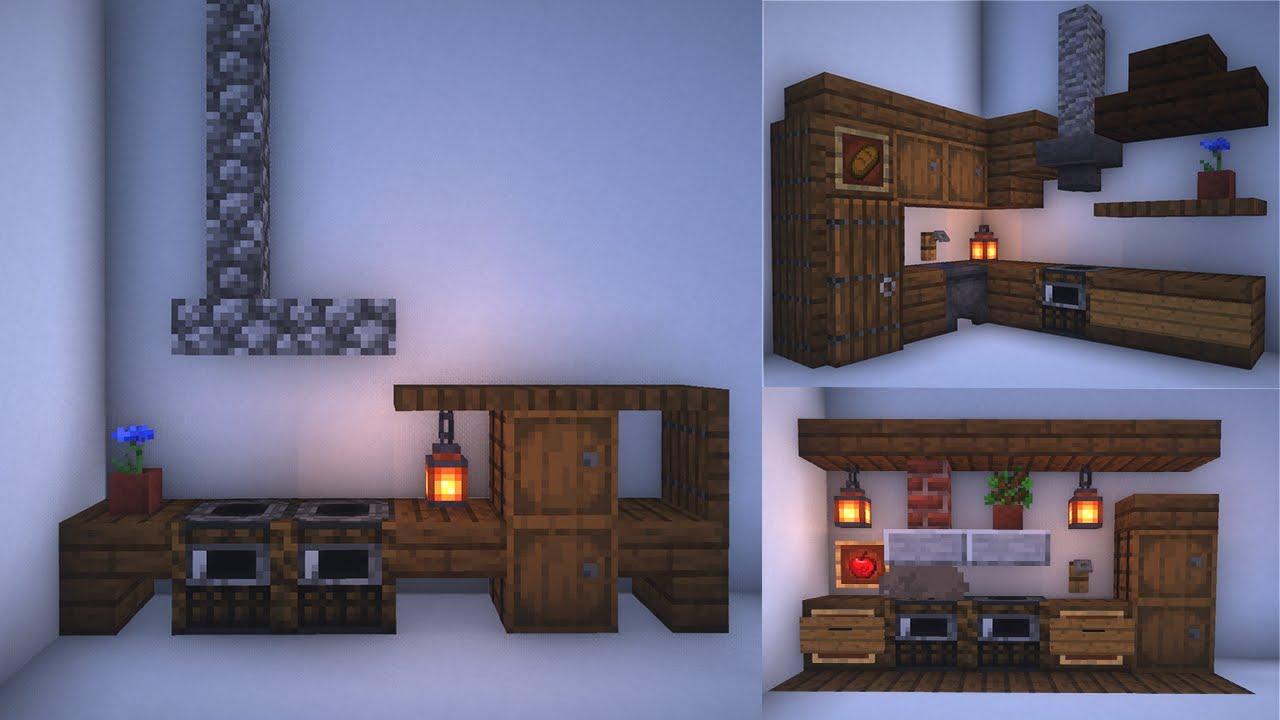 Minecraft: 3 Medieval Kitchen Designs [EASY] - YouTube